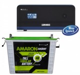 Luminous Zelio +1100VA Pure Sine Wave Inverter & AMARON AAM-CR-CRTT150 150AH Tall Tubular Battery