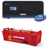 LUMINOUS ZELIO +1100VA Pure Sine Wave Inverter & EXIDE INSTABRIGHT 1500 150AH Flate Plate Battery