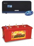 LUMINOUS ZELIO +1100VA Pure Sine Wave Inverter & EXIDE INVA MASTER 1500 150AH Flate Plate Battery