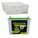 Amaron 880VA Pure Sine Wave Inverter & AMARON AAM-CR-CRTT150 150AH Tall Tubular Battery