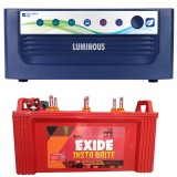 Luminous ECO WATT+850 Square Wave Inverter & EXIDE INSTABRITE IB1500 150AH Flate Plate Battery