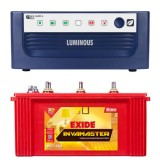 Luminous ECO WATT+ 650 Square Wave Inverter &  Exide Inva Master IMST1500 150AH Tubular Battery