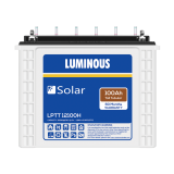 Luminous LPTT 12100H 100AH Solar Tubular Battery