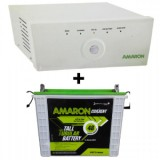 Amaron 880VA Pure Sine Wave Inverter & Amaron AAM-CR-CRTT180 180AH Tall Tubular Battery