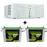 AMARON 1400VA SINE WAVE Inverter &  AMARON AAM-CR-CRTT150 150AH Tall Tubular Battery
