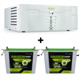 Amaron 1400VA Pure Sine Wave Inverter & Amaron AAM-CR-CRTT180 180AH Tall Tubular Battery