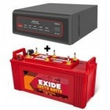 Exide XTATIC 850VA Pure Sine Wave Inverter and Exide Insta Brite IB1500 150AH  Flat Plate Battery