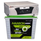 Microtek EB 900VA Square Wave Inverter and Amaron AAM-CR-CRTT150 150AH Tall Tubular Battery