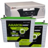 Microtek EB 1600VA Square Wave Inverter & Amaron AAM-CR-CRTT150 150AH  Tall Tubular Battery
