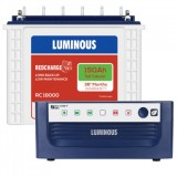 Luminous  Eco Watt +850VA Square Wave Inverter & Luminous Red Charge TT18000 150AH Tall Tubular Batt
