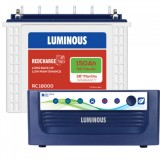 Luminous Eco Volt +1050 Pure Sine Wave Inverter & Luminous Red Charge TT18000 150AH Tall Tubular Bat