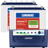Luminous Eco Volt +1650VA Pure Sine Wave Inverter & Luminous Red Charge TT18000 150AH Tall Tubular B