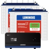 Luminous Zelio +1700VA Pure Sine Wave Inverter & Luminous Red Charge TT18000 150AH Tall Tubular Batt